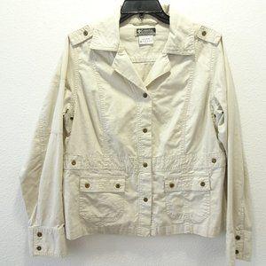 🌵Columbia Khaki Cotton Jacket Tan Large